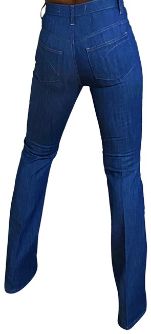 Item - Blue Light Wash High Waisted Flare Leg Jeans Size 0 (XS, 25)