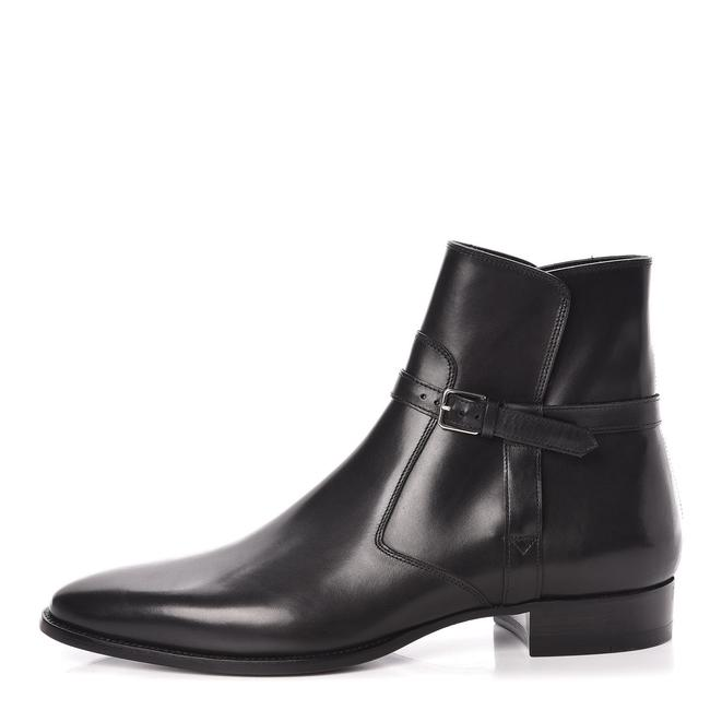 Item - Black Yves Calfskin Mens Ankle Boots/Booties Size EU 41 (Approx. US 11) Regular (M, B)