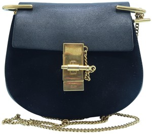 Chloé Drew Small Leather And Suede Cross Body Bag