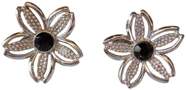 Item - Black Beauties Rhinestone Clip-on Earrings
