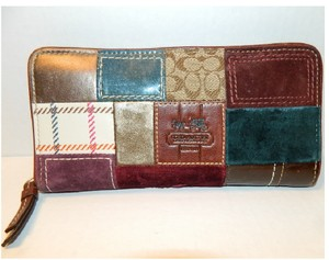Coach Limited Edition COACH Bleeker Holiday Patchwork Accordion Wallet