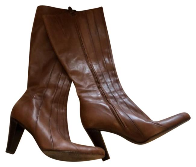 Item - Brown Glove Fit Leather Boots/Booties Size US 8 Regular (M, B)