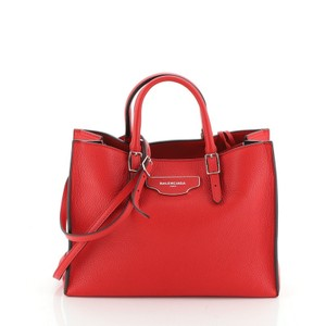 Balenciaga Around Leather Tote in Red