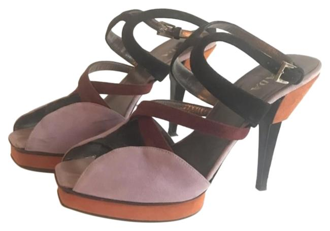 Item - Multicolor Suede Heels Sandals Strappy Platforms Size EU 40 (Approx. US 10) Regular (M, B)