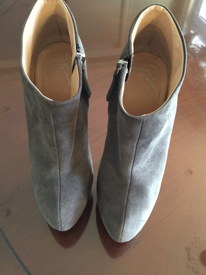Giuseppe Zanotti Suede Classic Next Day Shipping gray Boots