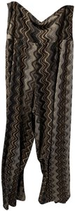 New Directions Wide Leg Pants Multi---Brown, black & blue.