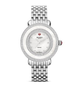 Michele Stainless Steel Cloette Mother of Pearl Diamond MWW20E000001