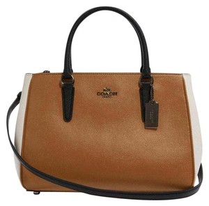 Coast Satchel in Light Saddle/Multi