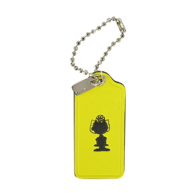 """Item - Yellow Limited Edition Snoopy """"Sally"""" Peanuts Leather Key Chain"""