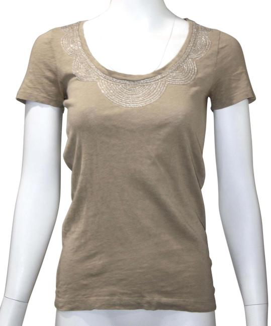 Item - Beige Small Tee Shirt Size 4 (S)
