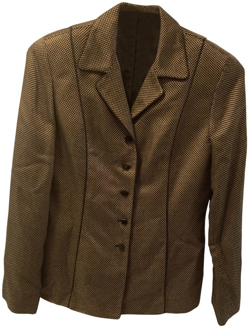 Item - Brown & Gold Business Look Blazer Size 4 (S)