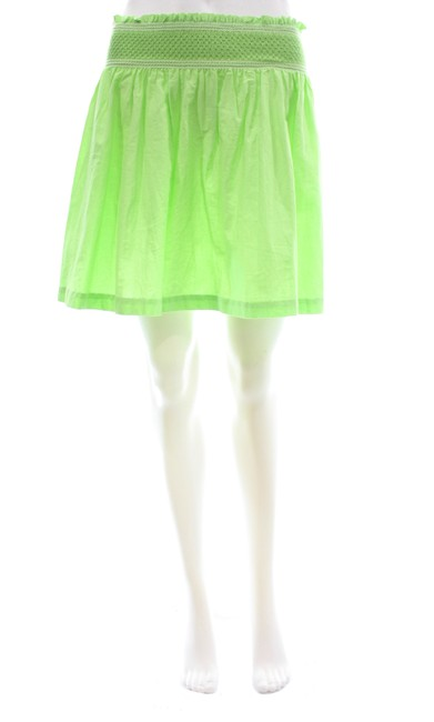 Item - Green Cinched Waist Girls Large Skirt Size Petite 12 (L)