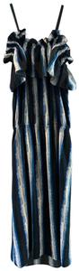 print blue Maxi Dress by Figue
