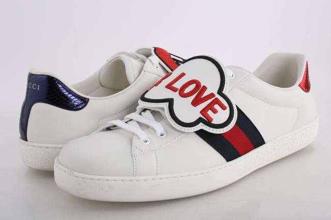Item - White Ace Sneakers with Removable Patches Shoes