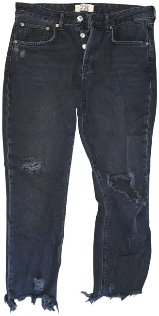 Item - Black Distressed Good Times Relaxed Skinny Jeans Size 28 (4, S)