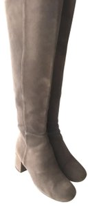 Halogen Suede Leather Knee High grey Boots