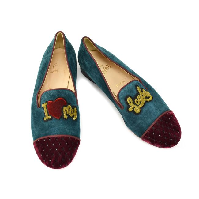 "Item - Teal Suede ""Love My Loubies"" Loafers/ Flats Size EU 40 (Approx. US 10) Regular (M, B)"