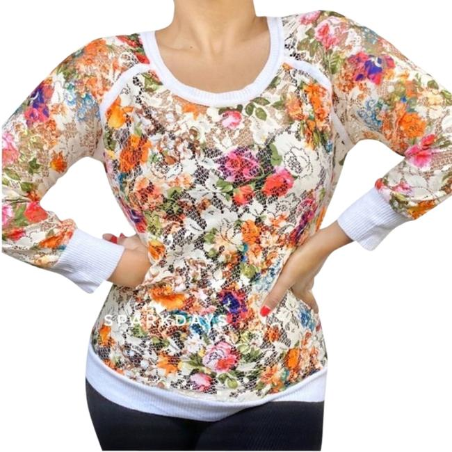 Item - Anthropologie Colorful Floral Lace | M Ivory Sweater