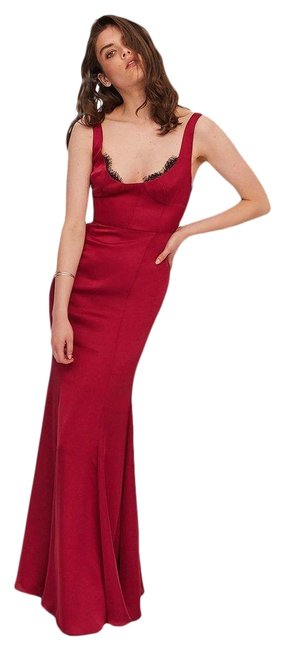 Fame and Partners Burgundy Ara Satin Full-length Long Formal Dress Size 2 (XS) Fame and Partners Burgundy Ara Satin Full-length Long Formal Dress Size 2 (XS) Image 1