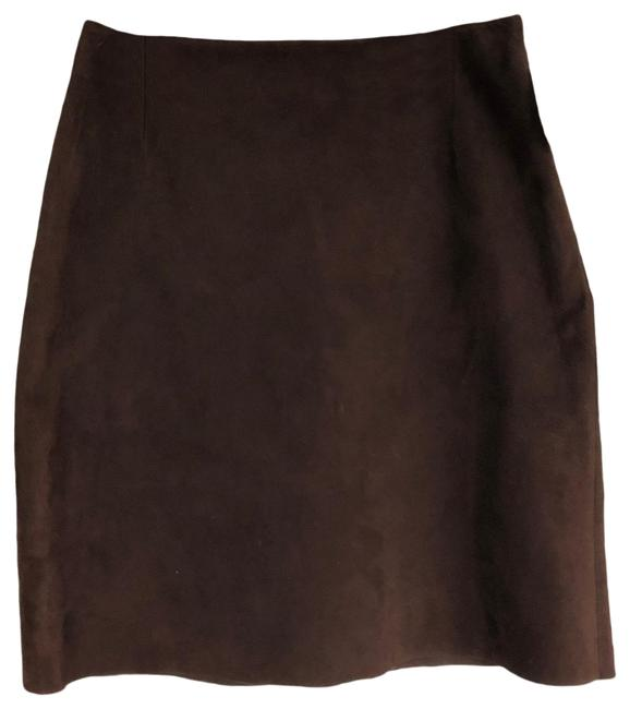 Item - Brown Rare 90s Vintage Suede Skirt Size 4 (S, 27)