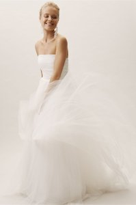 Jenny Yoo Ivory Tulle Jillian Feminine Wedding Dress Size 8 (M)