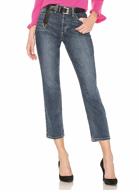 Item - Kimbra Medium Wash The Smith High Rise Ankle Straight Leg Jeans Size 29 (6, M)