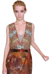 clements ribeiro Vogue Embroidered Mixedmedia Runway Dress