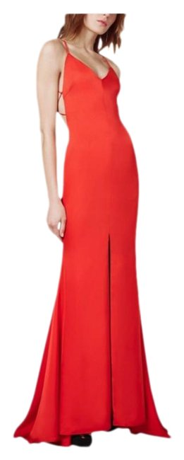 Fame and Partners Red Womens Evening Strappy Mermaid Long Formal Dress Size 22 (Plus 2x) Fame and Partners Red Womens Evening Strappy Mermaid Long Formal Dress Size 22 (Plus 2x) Image 1