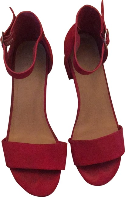 Item - Red Sandal Mule Heels Platforms Size US 7.5 Regular (M, B)