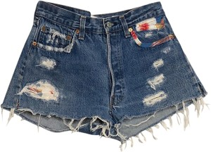 RE/DONE Denim Shorts-Distressed