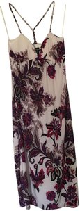 Multi: fuchsia, purple, white Maxi Dress by Alyn Paige Maxi Sundress Floral Print Braiding Racer Back Pink
