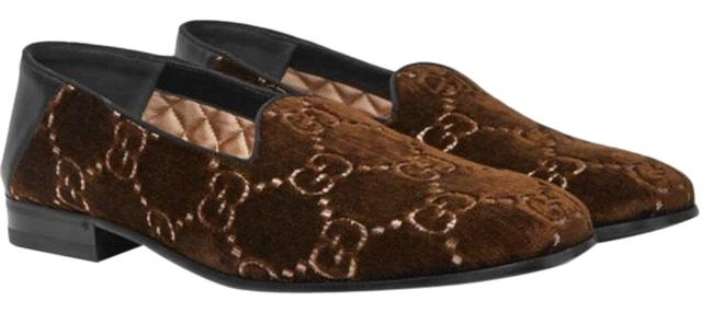 Item - Brown Mens Gallipoli Collapsible Heel Embroidered Velvet Loafers Flats Size US 7 Regular (M, B)