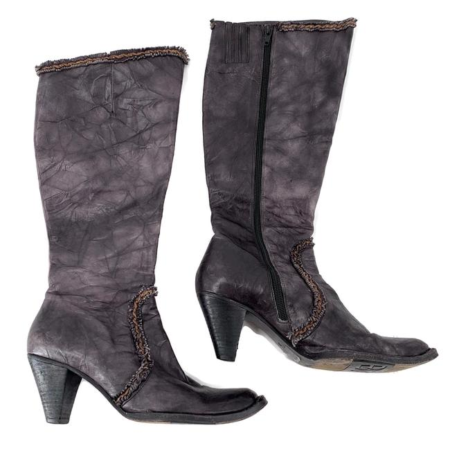 Item - Gray Leather Boots/Booties Size EU 38 (Approx. US 8) Regular (M, B)
