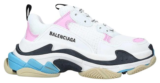 Item - Pink/White Sg Triple S Suede and Mesh Trainers Sneakers Size EU 38.5 (Approx. US 8.5) Regular (M, B)