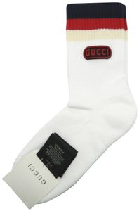 Gucci Gucci Sylvie Web Game Rubber Patch Pink Socks Size Small
