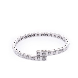 Cartier CARTIER Cartier Tectonic Bracelet 21P Diamond Unisex K18WG Bangle