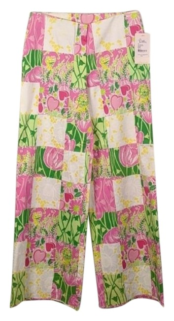 Item - Pink Green Derby Patchwork Pants Size 8 (M, 29, 30)