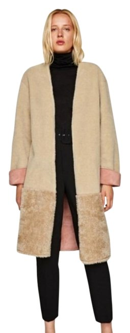 Item - Tan Pink Double Sided Effect Coat Size 8 (M)