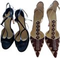 Alexandra Neel Black beige burgandy Sandals