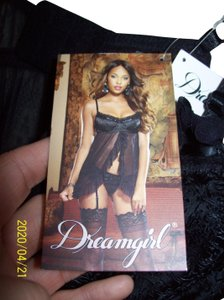 Dreamgirl New With Tags Jacquard Babydoll Mesh Outfit Dress