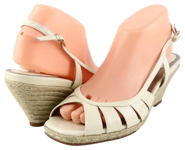 Item - Ivory Air Patent Leather Wedge Sandals Size US 8 Regular (M, B)