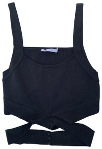 Alexander Wang T By Cropped Top Black