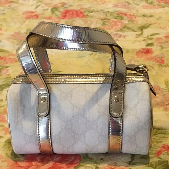 Gucci Satchel in Gold/White
