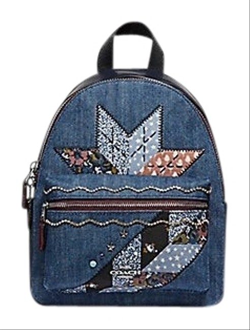Item - Charlie Mini with Star Patchwork (F39917) Blue Backpack