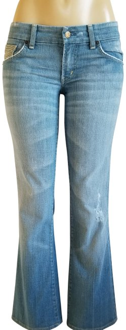 Item - Blue Distressed 034-027 Boot Cut Jeans Size 28 (4, S)