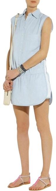 Item - Blue/White Sky Brushed Chambray Playsuit Romper/Jumpsuit