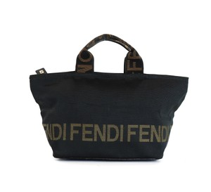 Fendi Vintage Italy Cosmetics Travel Tote in Black