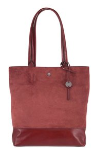 Lodis Leather Tote in Red