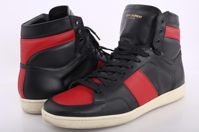 Item - Black/Red Signature Court Classic High-top Sneakers Shoes