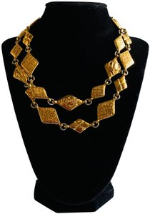Chanel Chanel Vintage Quilted Logo Choker Necklace
